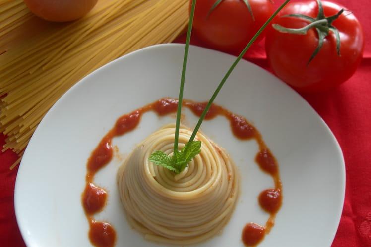 Tourbillon de spaghettis à la bolognaise