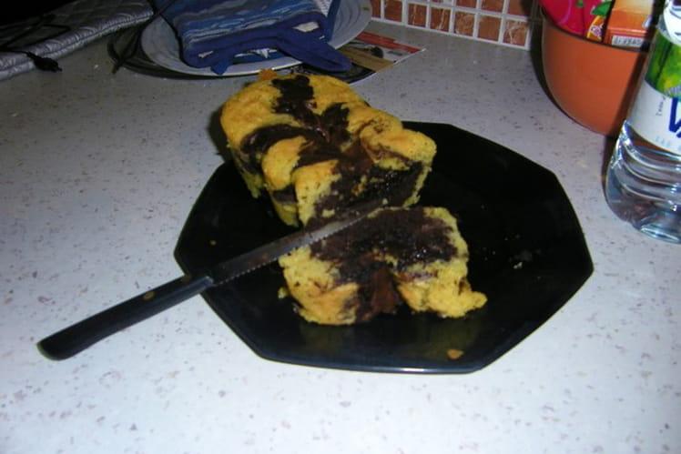 Gâteau marbré aux pépites de chocolat
