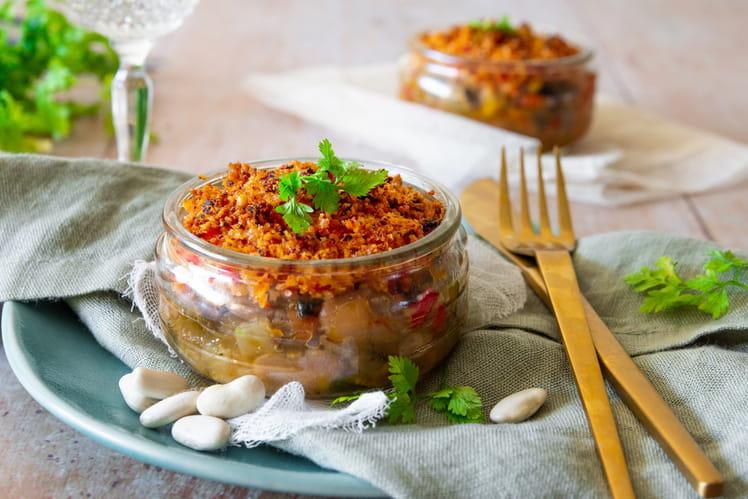 Crumble de Haricots Tarbais au chorizo & parmesan