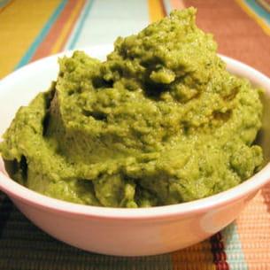 purée de brocolis au parmesan