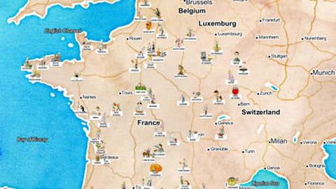 Carte interactive produits et spécialités céréalières régions
