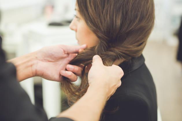 Séparer la chevelure en deux