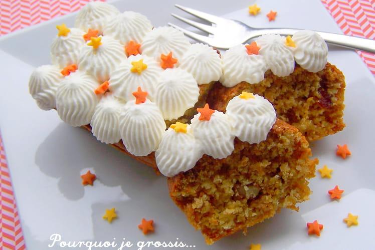 Carrot cake aux amandes, noix et cranberries