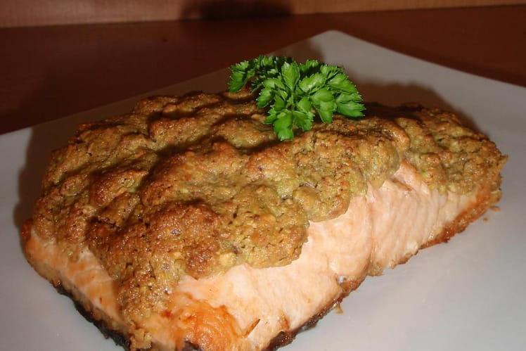 Saumon en croûte de pistache
