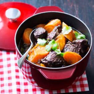joue de bœuf-carottes au gingembre et à la coriandre