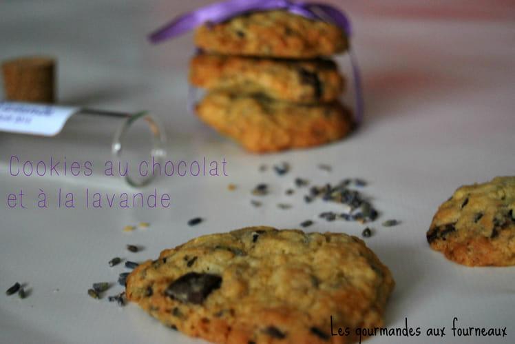 Cookies au chocolat et à la lavande