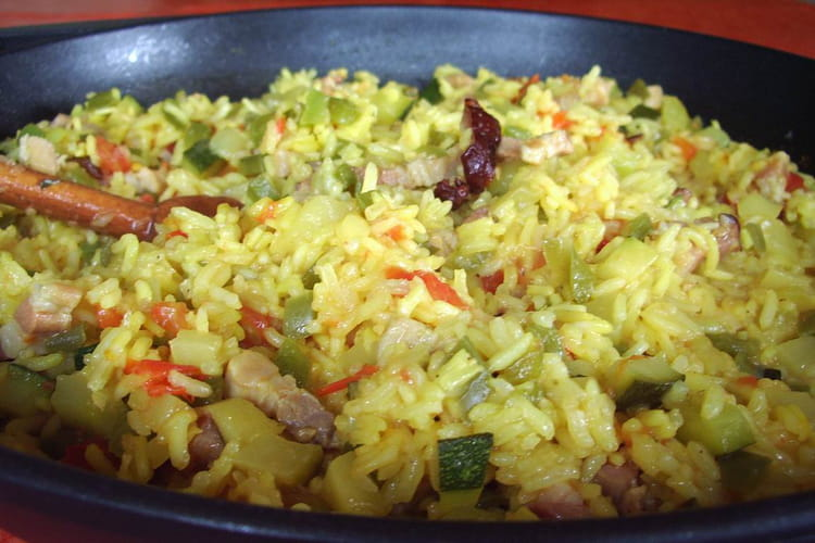 Risotto de lardons aux légumes