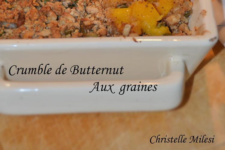 Crumble de Butternut aux graines