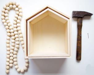 le matériel nécessaire à la confection de ces mini étagères