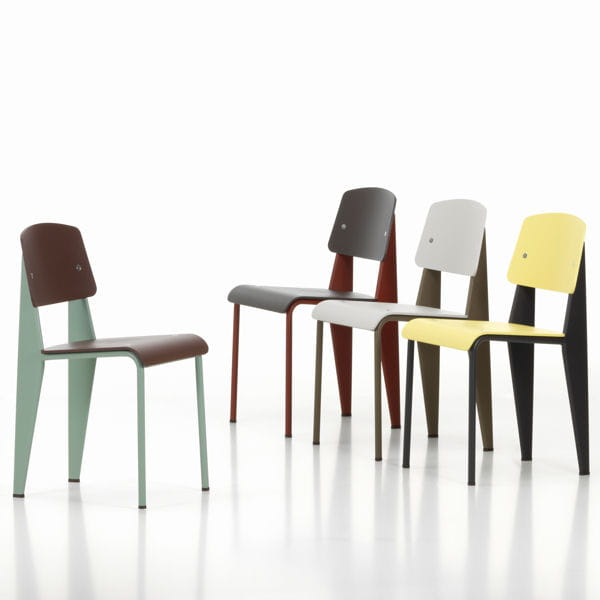 chaise standard sp de jean prouv chez silvera. Black Bedroom Furniture Sets. Home Design Ideas