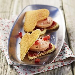 cœur de quatre-quarts craquants et foie gras