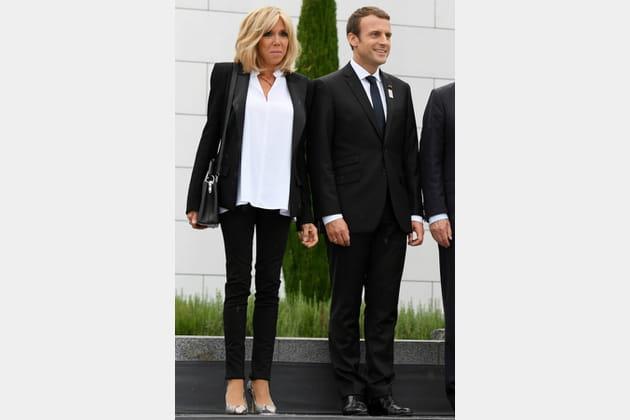 Brigitte Macron le 12juillet 2017