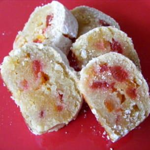 pan de cadiz (pâte d'amandes aux fruits confits)