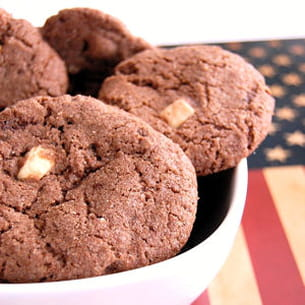 cookies tout choco, pépites de chocolat blanc
