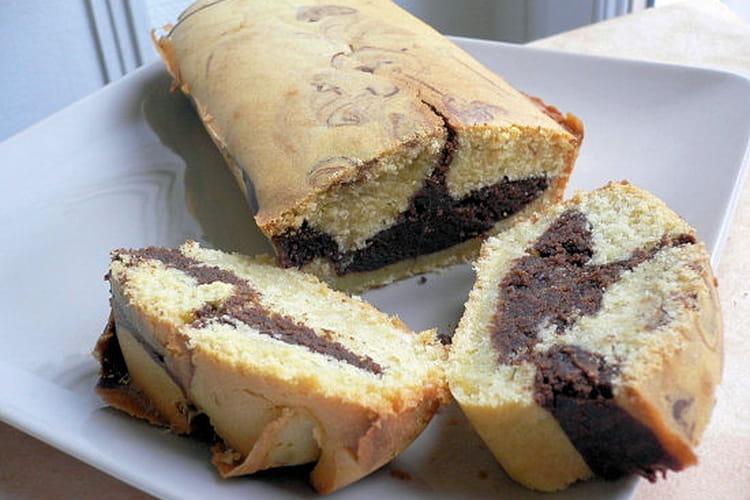 Gâteau marbré à la farine de maïs