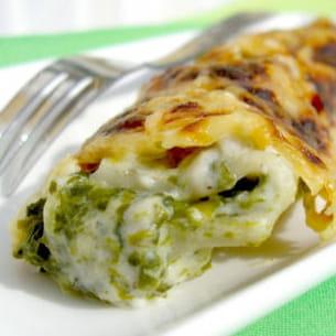 cannellonis ricotta-épinard