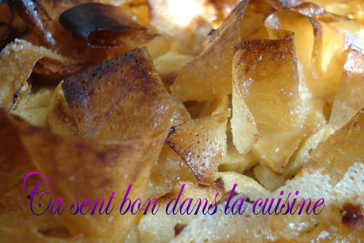 Croustade aux pommes, noisettes et eau-de-vie