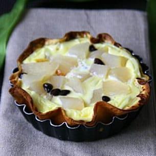 tarti-crêpes aux poires et chocolat