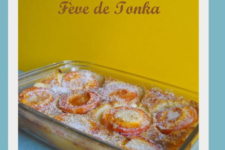 Clafoutis aux abricots et fève tonka