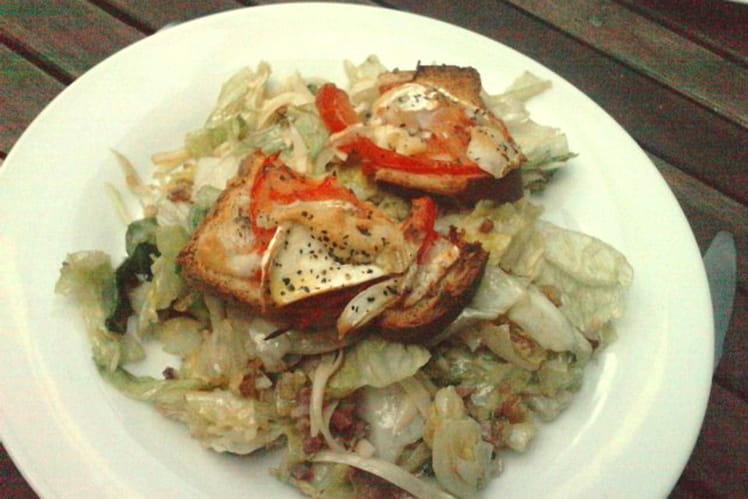 Salade de chèvre chaud et lardons