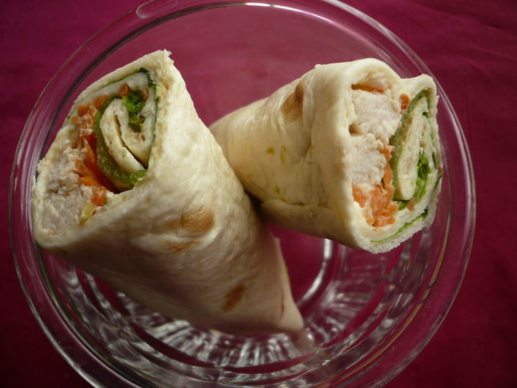 how to make chicken wraps with tortilla