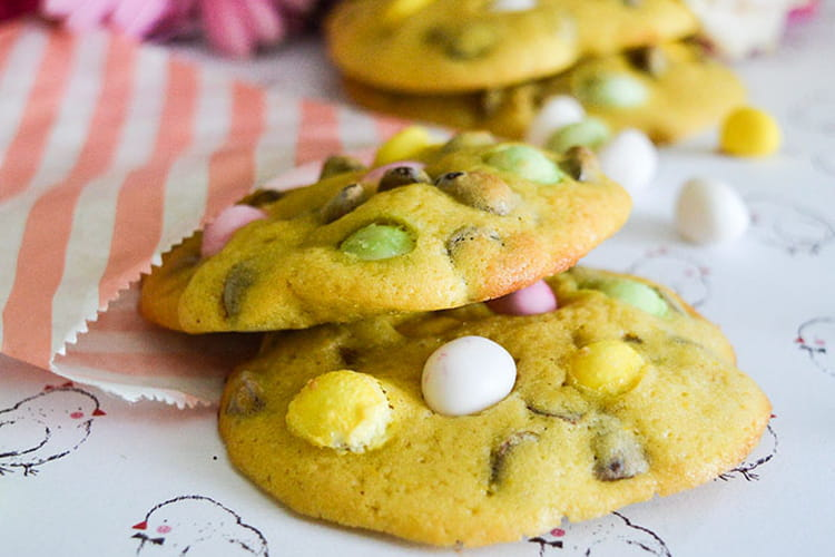 Cookies de Pâques chocolat & minis oeufs
