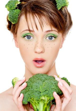 les brocolis sont très riches en calcium.