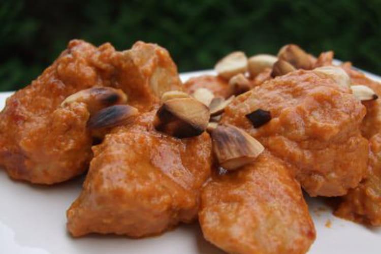 Curry de porc aux amandes