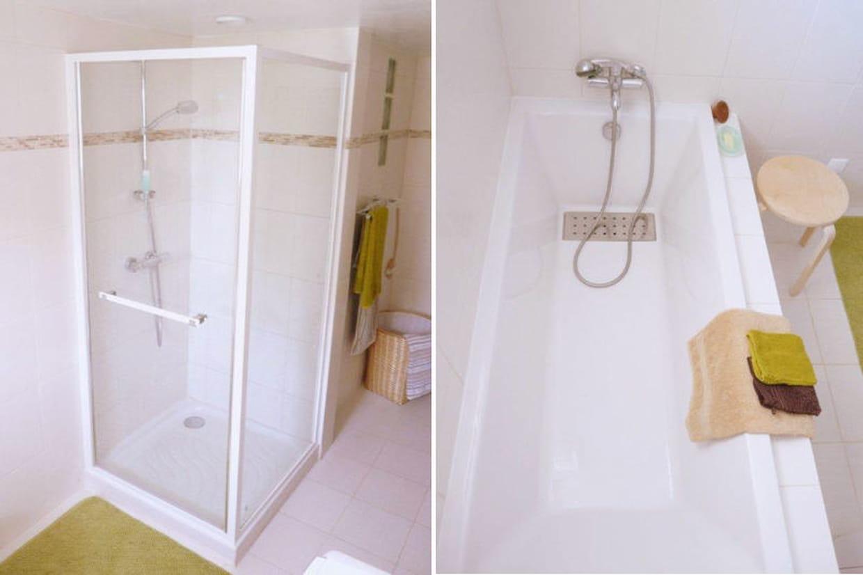 le duo douche et baignoire. Black Bedroom Furniture Sets. Home Design Ideas