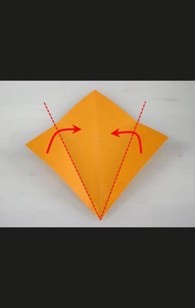 Origami chat - Etape 1