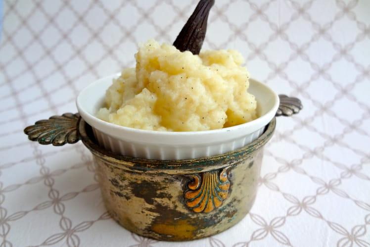 Céleri rave à la vanille