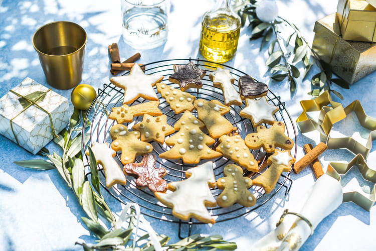 Biscuits de Noël, gingembre, cannelle, huile d'olive de Nice AOP