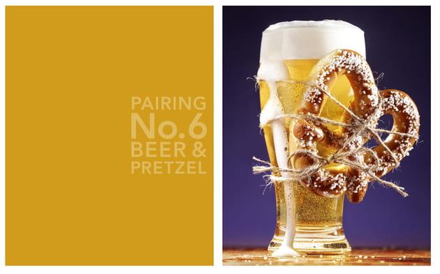 Bière et bretzel