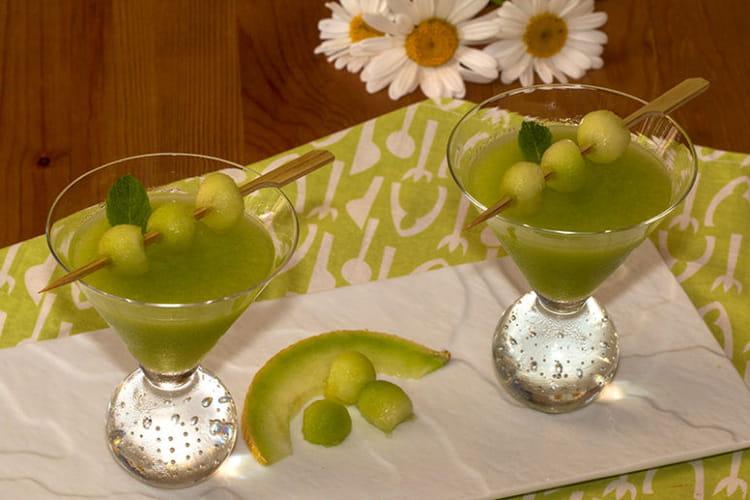 Gaspacho au melon vert et citron vert