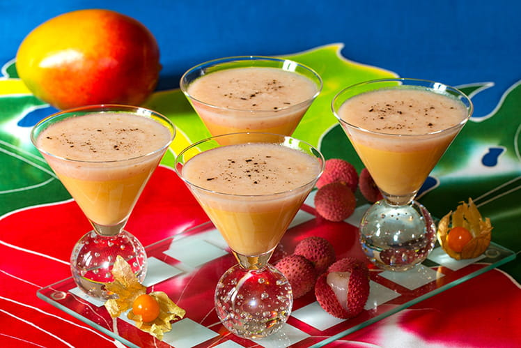 Mousse mangue litchi