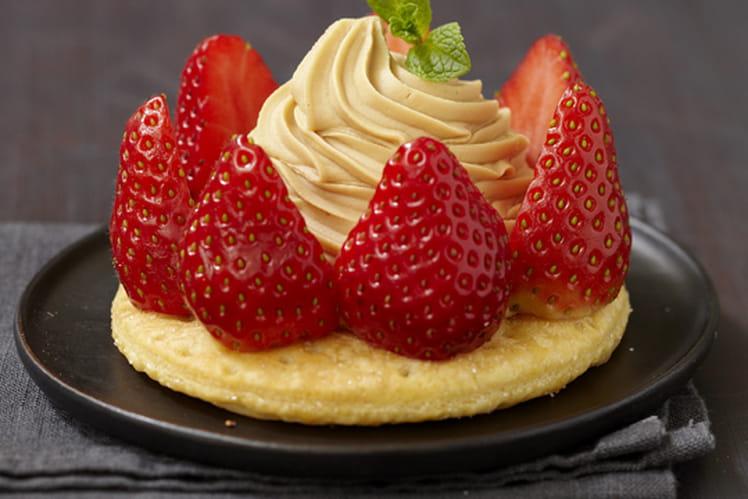 Tartelettes fraises, mascarpone et café