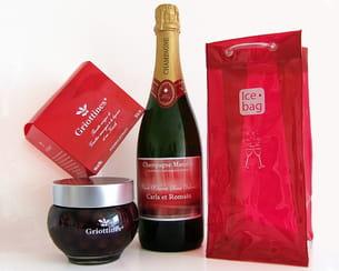 coffret champagne et griottines