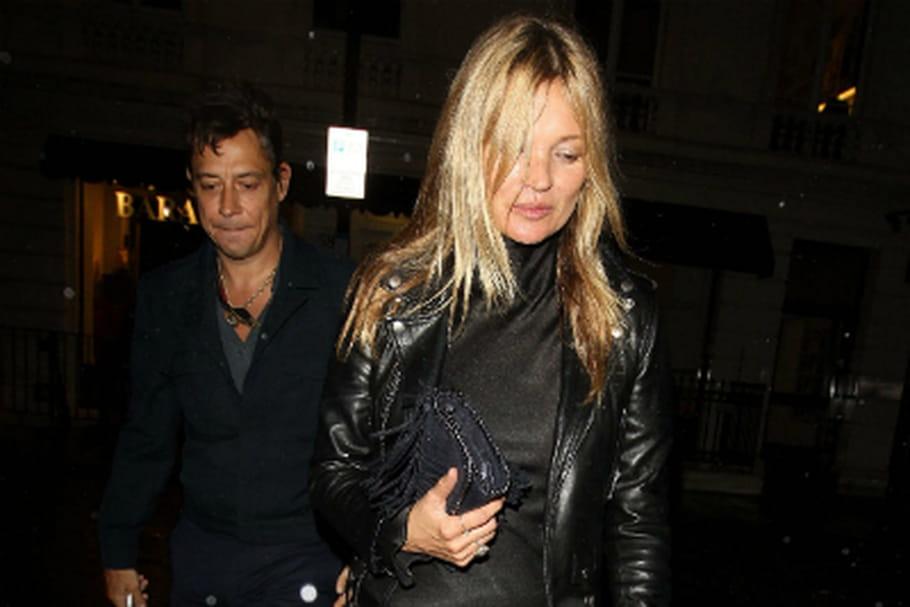 Le look people du jour: Kate Moss, rock et chic