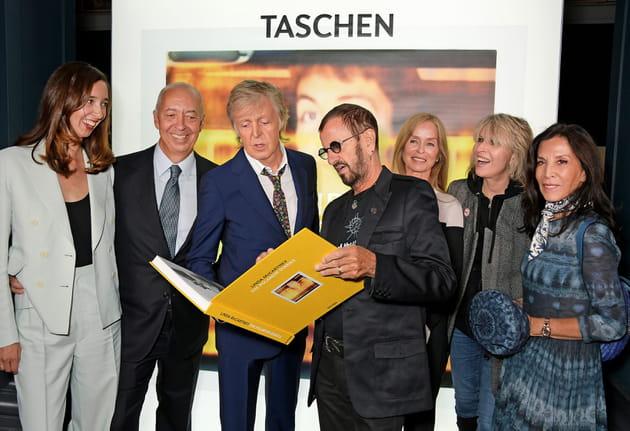 MarleneandBenediktTaschen, Paul McCartney, Ringo Starr, Barbara Bach, ChrissieHynde et Olivia Harrison