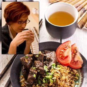 le thé accompagne volontiers les plats salés. a condition de trouver le juste