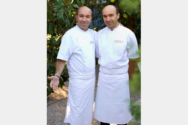 Jacques et Laurent Pourcel, chefs du Jardin des Sens