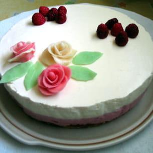 bavarois chocolat blanc-framboise