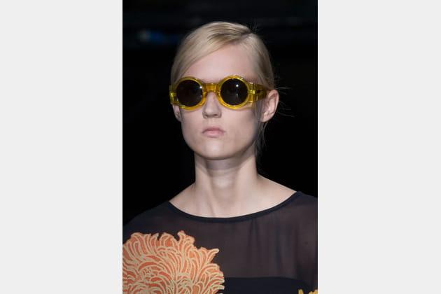 Les lunettes rondes du défilé Dries Van Noten