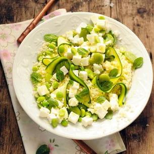 salade de semoule au salakis nature et aux le?gumes