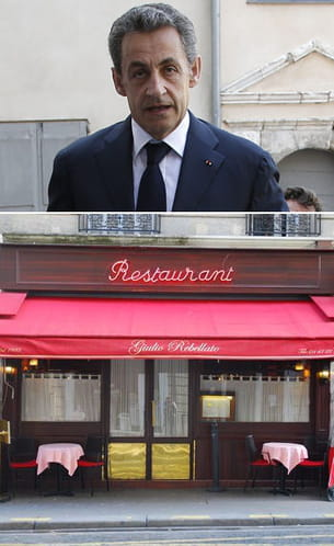 le restaurant giulio rebellato, très apprécié par nicolas sarkozy, est situé rue