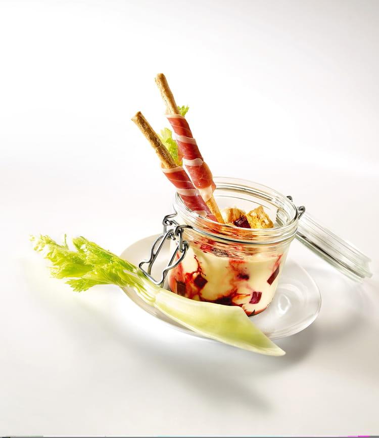 Recette de cr me de foie gras betteraves confites et dips - Cuisiner foie gras cru ...