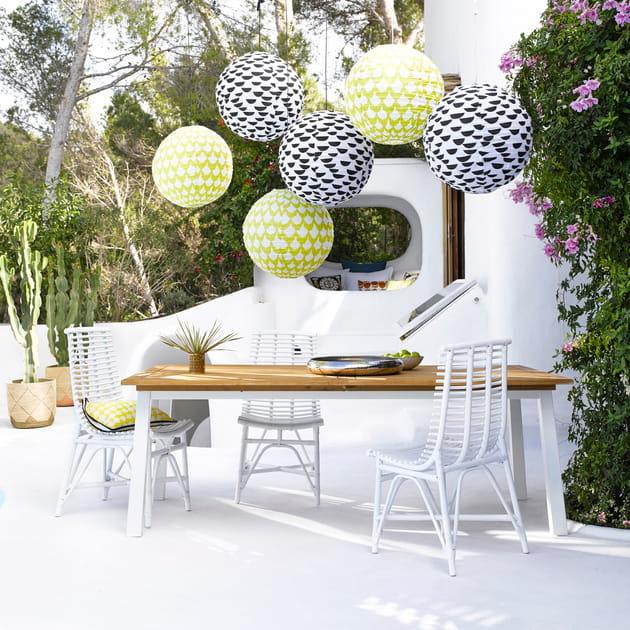 Table de jardin Atuto et chaises de La Redoute