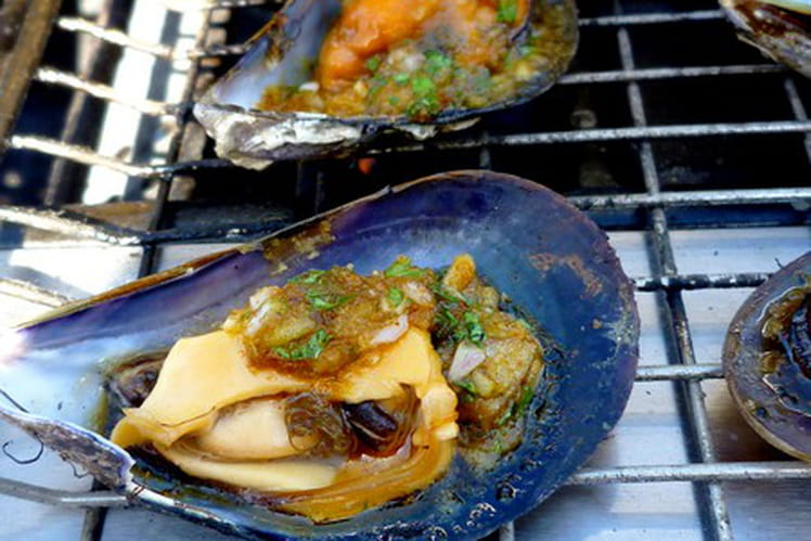 Moules farcies au barbecue