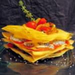 8 millefeuille au chevre et legumes du soleil cuisiner gastronomie 731377