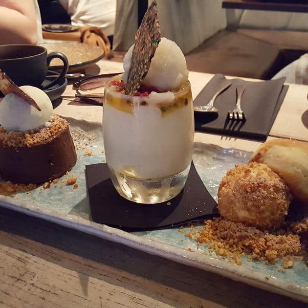 Trilogie de desserts chez Jinjuu